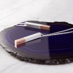Personalised Dipped Bar Necklace - contemporary jewellery