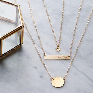 Personalised Layering Necklace Set - gifts for friends