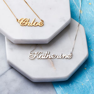 Personalised Handmade Name Necklace - 30th birthday gifts