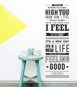 'Feeling Good' Quote Wall Sticker - bedroom