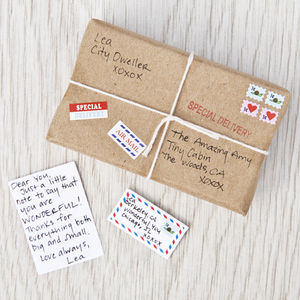 Tiny Letters And Packages Kit - finishing touches