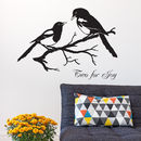 Magpies 'Two For Joy' Vinyl Wall Sticker