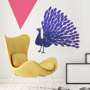 Peacock Vinyl Wall Sticker - shop by price