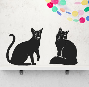 Homely Cat Vinyl Wall Stickers