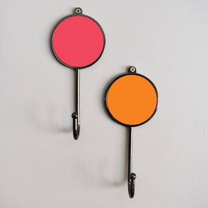 Colourful Wall Coat Hooks - hooks, pegs & clips
