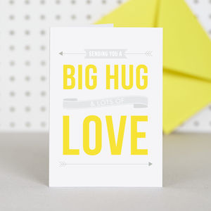 Big Hug Card - get well soon cards