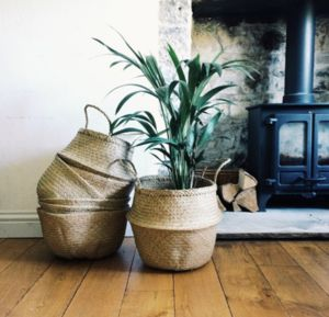 Seagrass Basket / Belly Basket - scandi home decor