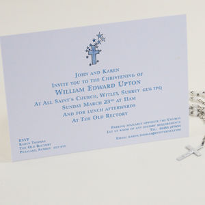 Personalised Illustrated Christening Invitations - invitations