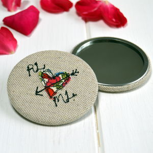 Personalised Love Heart Mirror - wedding favours