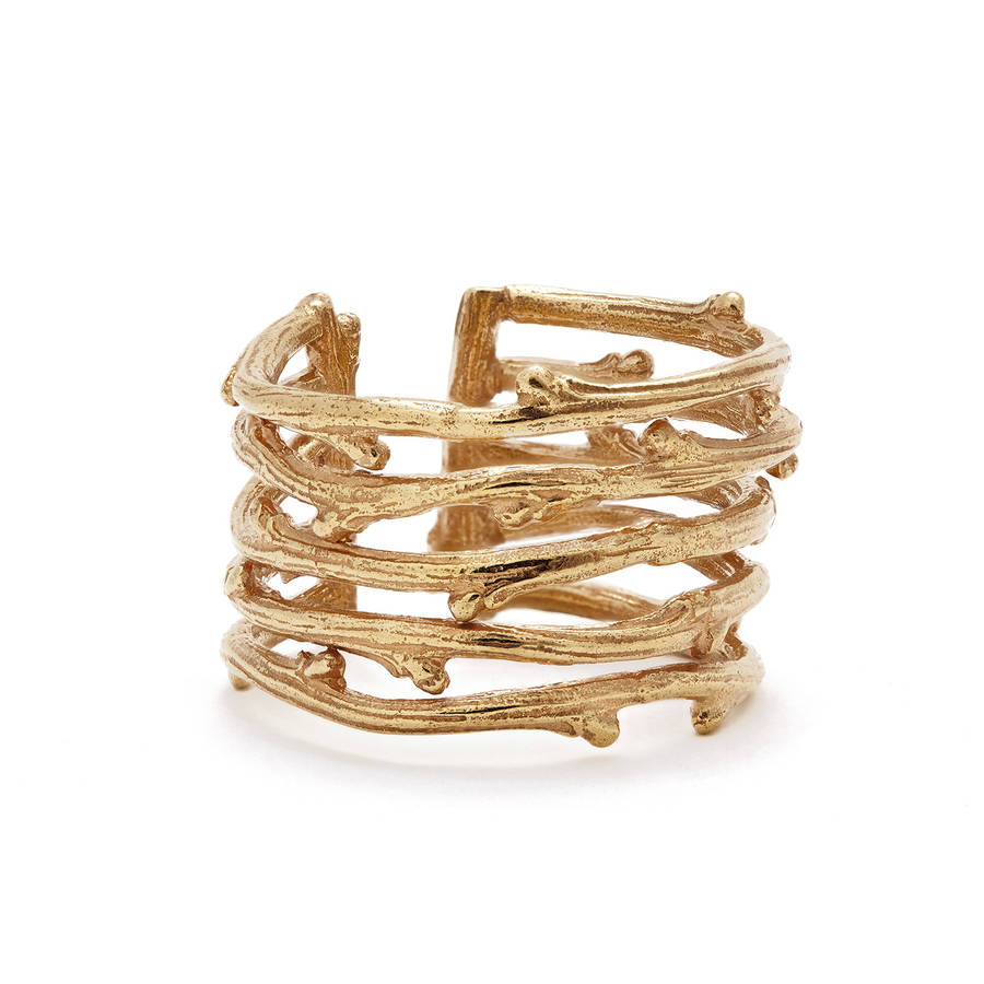 Love Is All You Need Twig Ring Gold