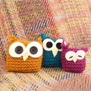 Owl Family 'Learn To Knit' Kit