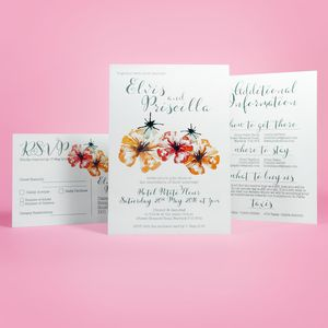 Poppies Wedding Invitation And Stationery Suite