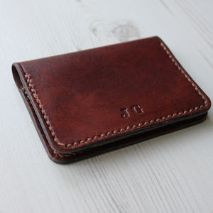 Slim Leather Folding Card Wallet