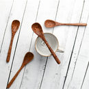 Coconut Wood Set Of Four Teaspoons