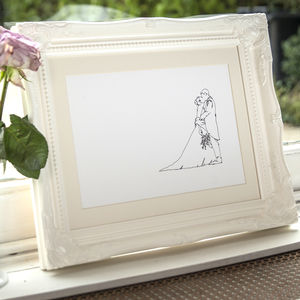 Personalised Wedding Drawing - 100 best wedding prints