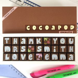 Personalised Thank You Chocolates For Teachers - gifts for teachers
