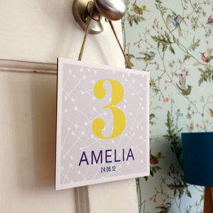 Personalised Decorative Wooden Birthday Keepsake