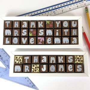 Personalised Thank You Chocolates For Teachers - chocolates & confectionery