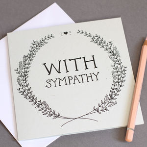 'With Sympathy' Card - sympathy & sorry cards