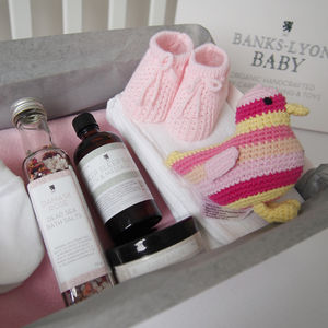 Handmade Organic Create Your Own Baby Girl Gift Box - baby shower gifts
