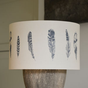 Handmade Feather Lampshade - bedroom