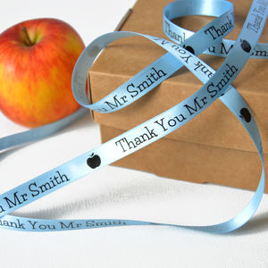 Thank You Teacher 10mm Personalised Printed Ribbon - gifts for teachers