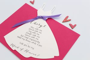 Will You Be My Bridesmaid? Dress Card