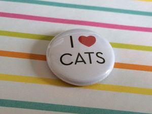 'I Love Cats' Pin Badge - women's jewellery