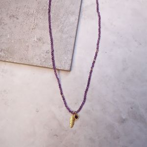 'Have Faith' Amethyst Gemstone Necklace - necklaces & pendants
