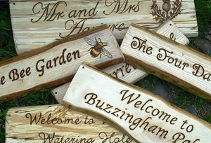 Personalised Natural Wood And Driftwood Signs - art & decorations