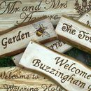 Personalised Natural Wood And Driftwood Signs