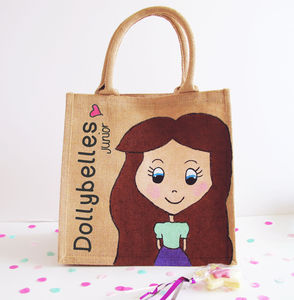 Hand Painted And Personalised Dollybelles Junior Bag - bags, purses & wallets