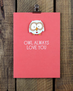 'Owl Always Love You' Personalised Greeting Card - wedding, engagement & anniversary cards