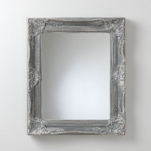 Hand Painted Vintage Grey Mirror - mirrors