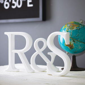 Wooden Letters Initals - home accessories