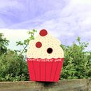 Cupcake Personalised Bird Box