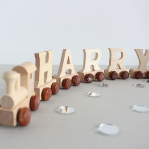 Personalised Wooden Name Train - stocking fillers