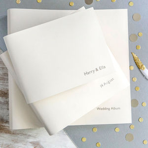 Personalised Leather Wedding Album - winter styling