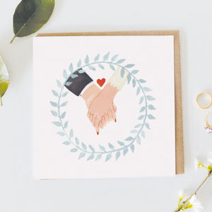 Holding Hands Card - engagement cards