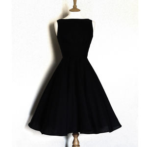 Linen Vintage Style Tiffany Dress With Circle Skirt - dresses