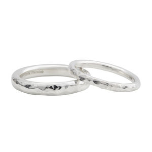Sterling Silver Halo Wedding Band - rings