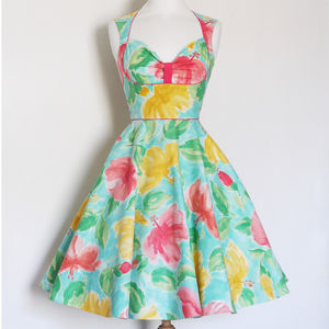 Floral Cotton Bustier Summer Dress - dresses