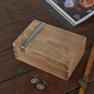Personalised Wooden Cufflink Box - shop by category