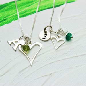 Mama Et Moi Personalised Open Heart Necklaces - children's jewellery