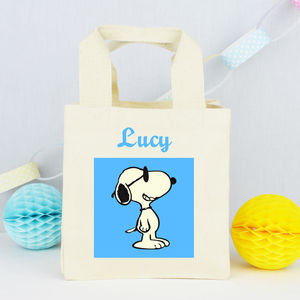 Personalised 'Snoopy Dog' Mini Tote Bag - party bags
