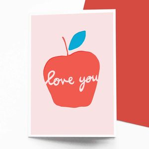Apple Love You Card