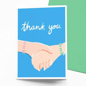 Friendship Bands Thank You Card - cards for friends