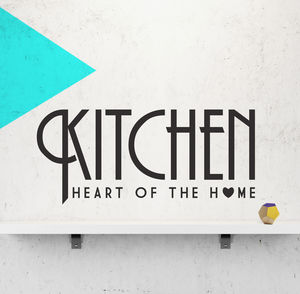 Kitchen Wall Sticker 'Heart Of The Home'