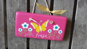Butterfly And Daisy Door Sign
