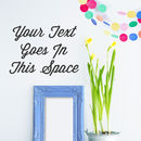 Thumb personalised typographical wall sticker
